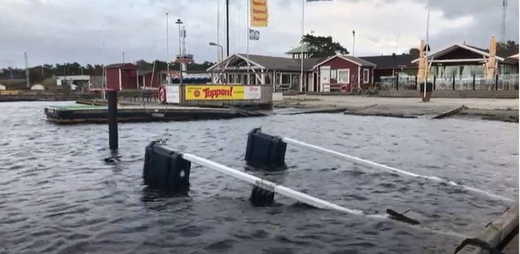 Högt vatten Falsterbokanalen 14/10 2020