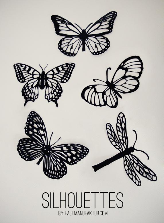 Papercut Moths, Butterflies And Dragonflies