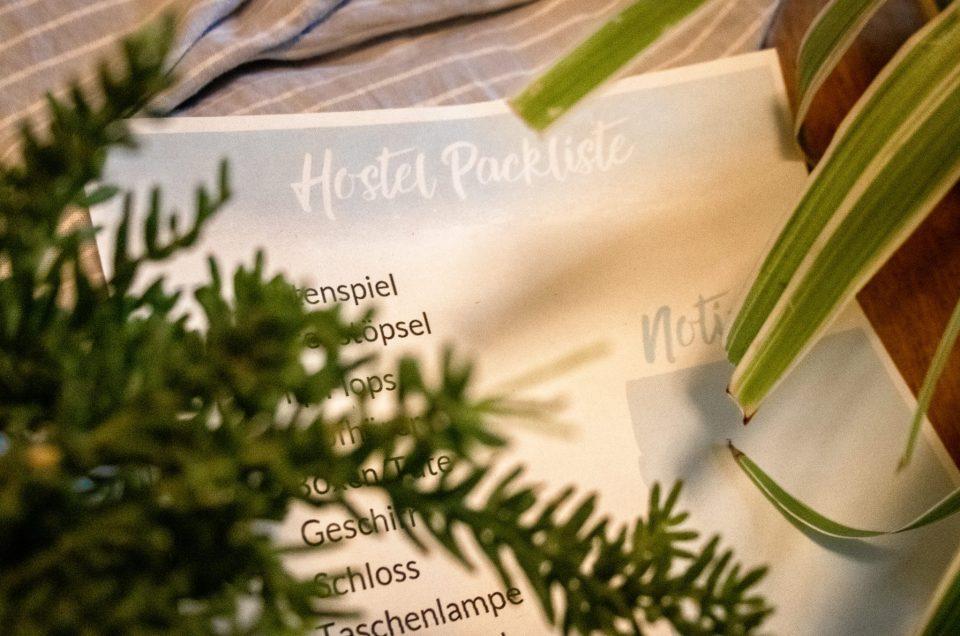 Hostel Packliste – 16 Dinge die du unbedingt mitnehmen musst