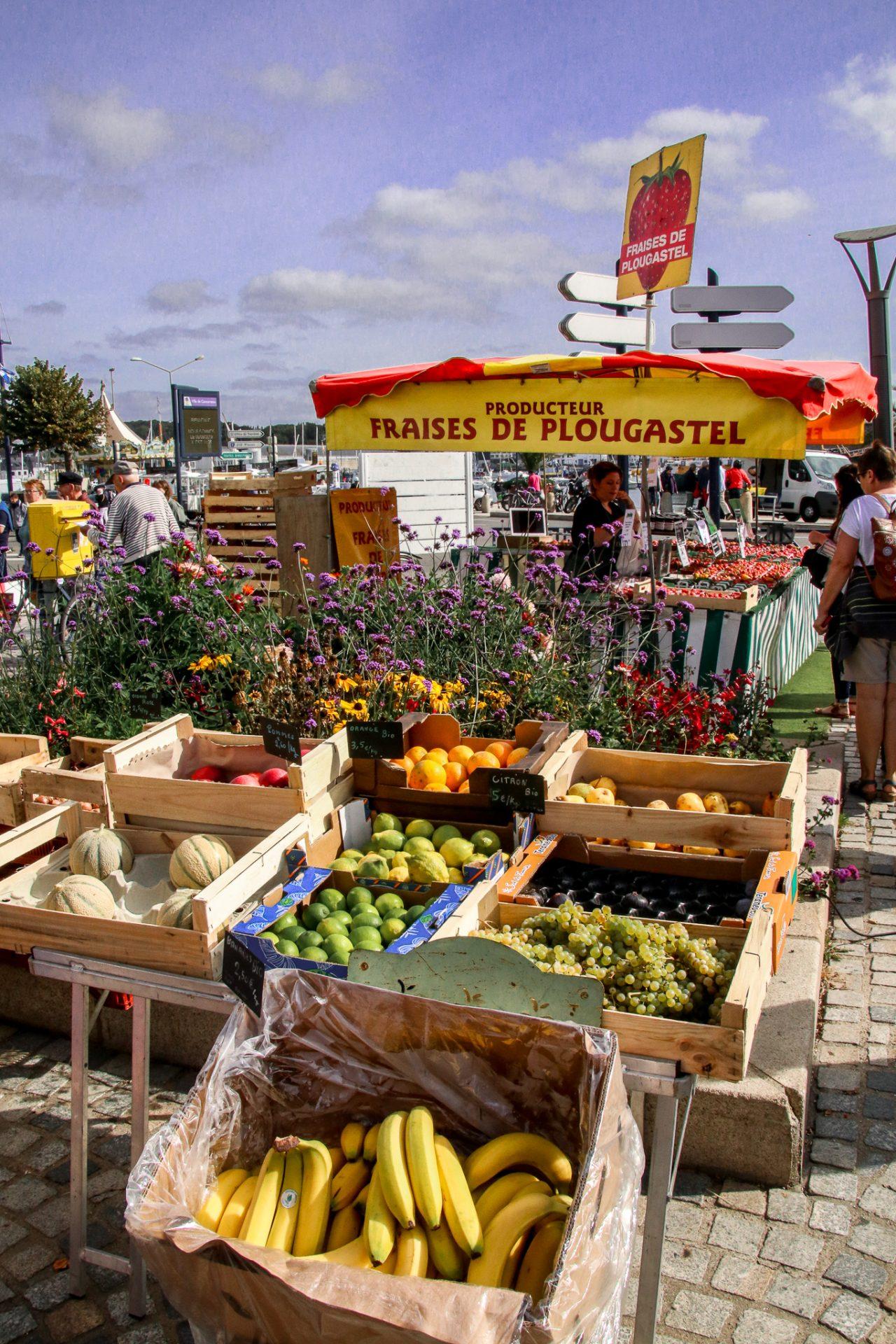 Concarneau-markt