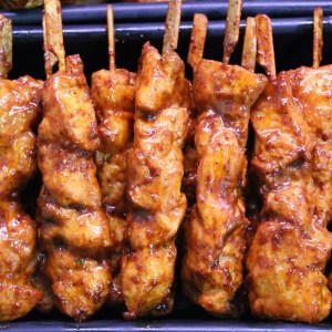 BBQ  Marinated Chicken Skewers