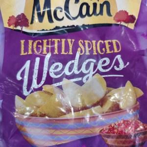 McCain Lightly Spiced Wedges x 650g
