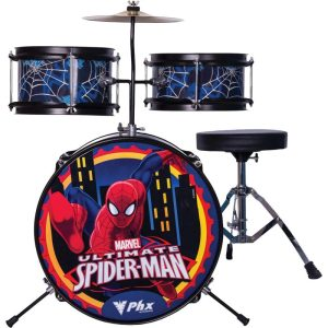 Bateria Infantil 3 Pecas Phoenix Spider Homem Aranha