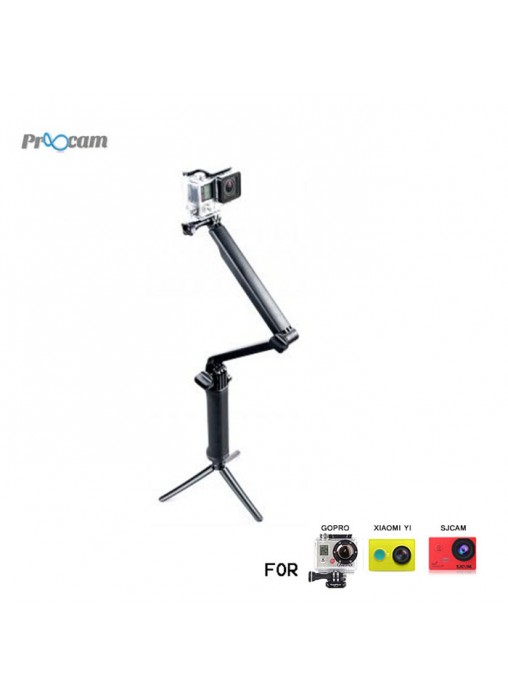 Proocam Pro-F117 3-way 3in1 Mount Monopord for Gopro Hero