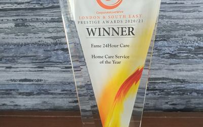 Fame 24Hour Care Wins Home Care Service Of The Year