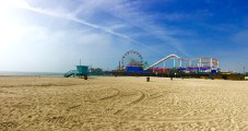 View of the Santa Monica Pier.