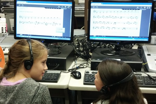 Students Write Music On Computers For The Composition Project