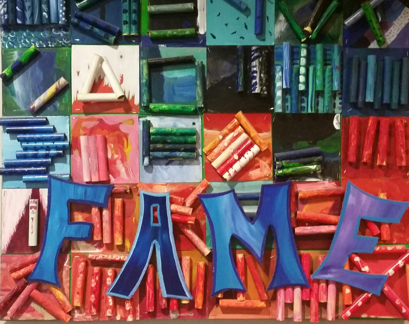 FAME sign created by kids at FAME Festival