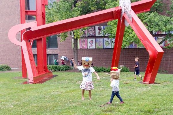 Kids Play At Taste Of The Arts With Their FAMEous Paper Bag Hats