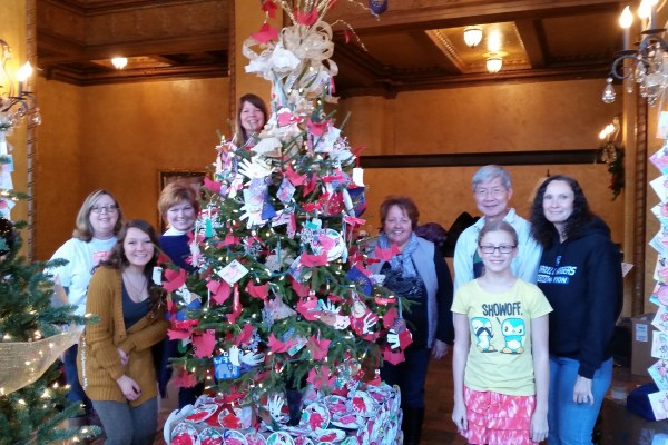 FAME Board And Friends Decorate The FAME Tree At The Embassy Theatre