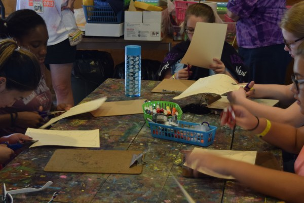 FAME Campers At Art Class