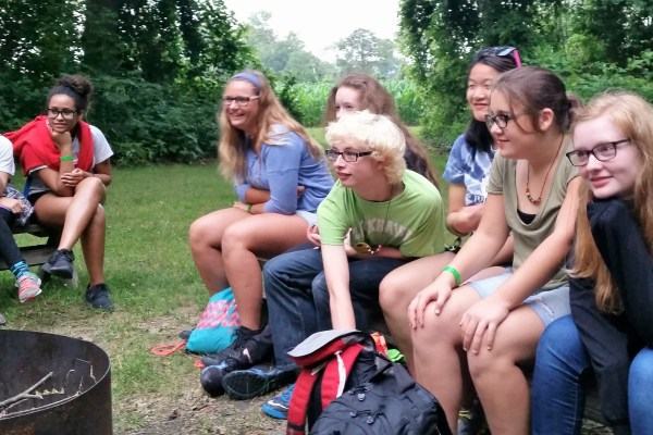 FAME Campers Share Stories At The Campfire