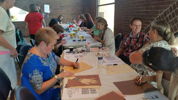 Art Workshop at Teacher's Meeting
