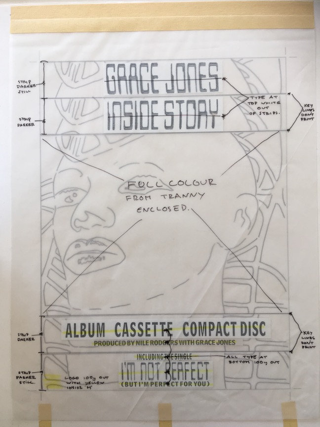 hight resolution of grace jones original master artwork for inside story face
