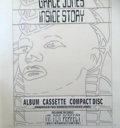grace jones original master artwork for inside story face  [ 3024 x 4032 Pixel ]