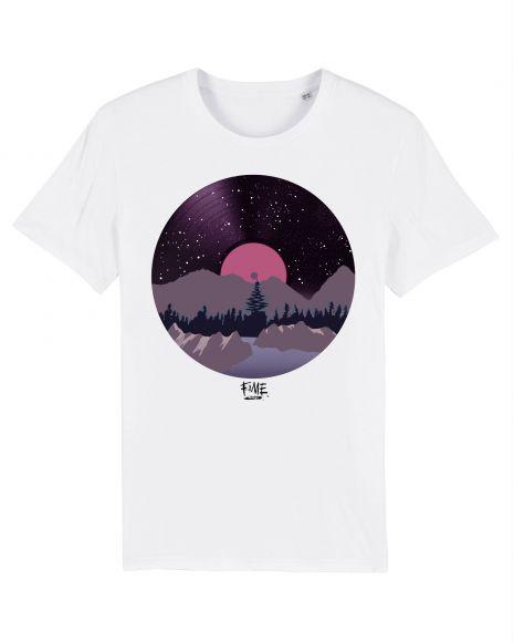 VINYL LANDSCAPE Unisex T-Shirt – White