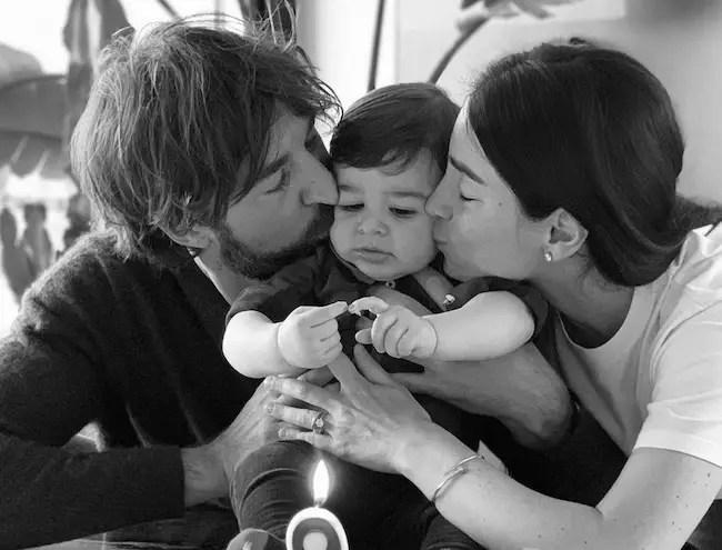 Giorgia Gabriele, boyfriend Andrea Grilli and son Matteo