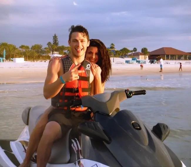 Mariela Pepin with boyfriend