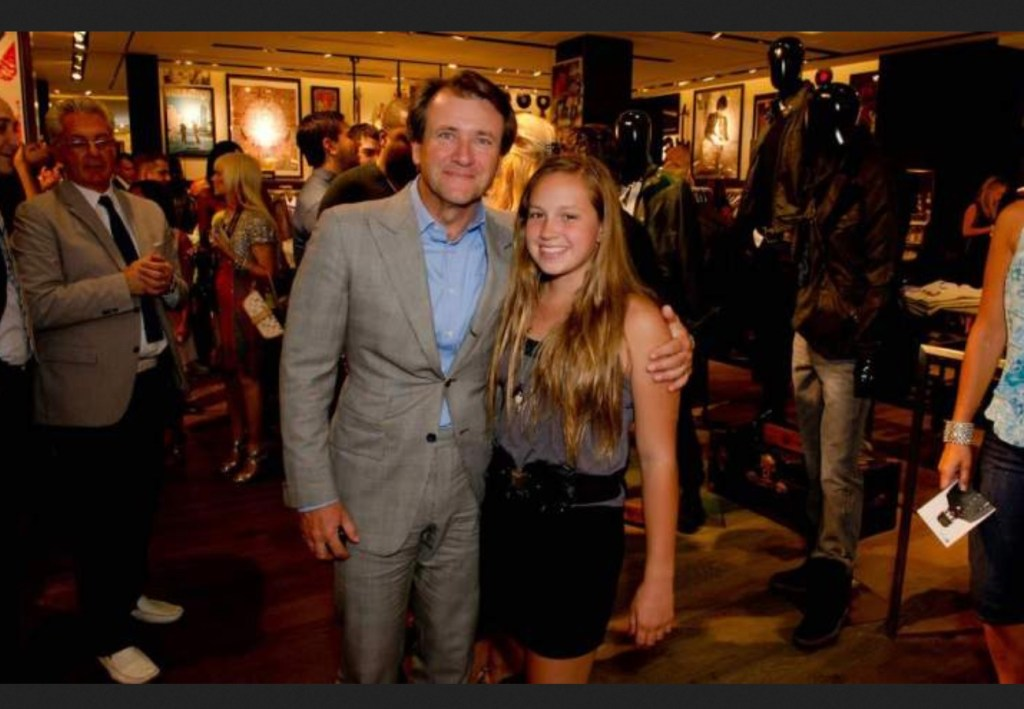 Skye Herjavec with father Robert Herjavec