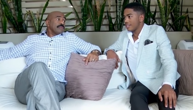 Steve Harvey and son Wynton Harvey