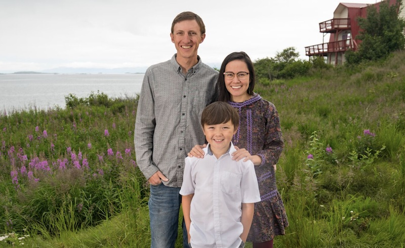 Eric Salitan with wife Martha Salitan and son Lucas Salitan