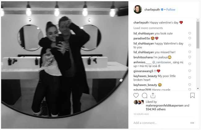 Charlotte Lawrence and ex-boyfriend Charlie Puth