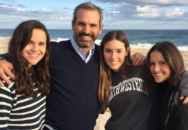 John Molner with daughters