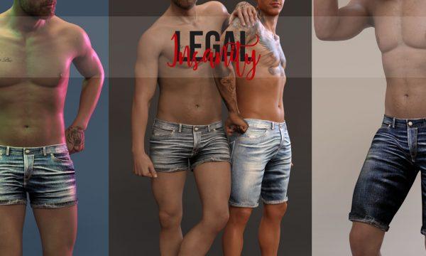 Diego Denim Shorts & Massimo Denim Shorts. Shorts are L$330 each / Fatpacks are L$1,500 each.  🎁