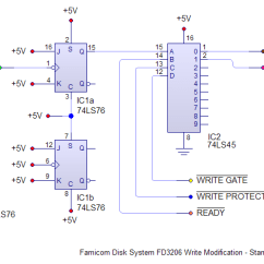 Reading A Wiring Diagram Led Bar Relay Famicom Disk System Fd3206 Write Mod « World