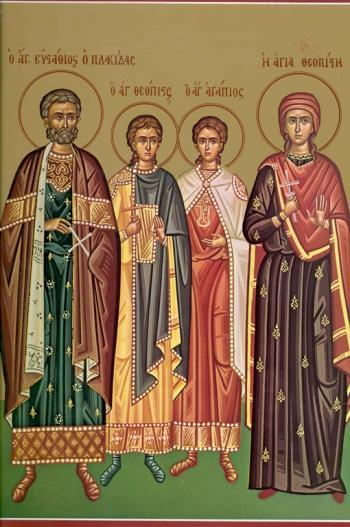 Minunați-vă! Viaţa Sfîntului Marelui Mucenic Eustatie Plachida, a soţiei şi fiilor lui († 118) 3 octombrie