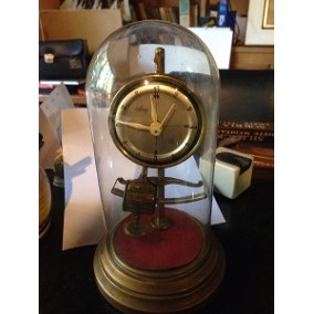 Antigo Relógio Dimep Com Cúpula De Vidro Anos 60