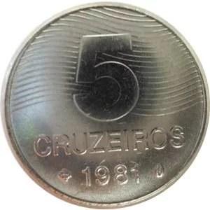 Moeda de 5 Cruzeiros, MBC-Soberba, 1980 a 1987