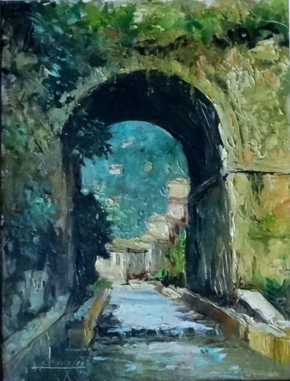 Alcides Navajas, Portal, pintura a óleo