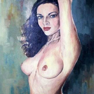 Helcio Iorio, nú artístico frontal, pintura a óleo