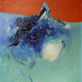 Kinya Ikoma, Composição Abstrata, pintura a óleo