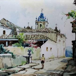 Luiz Labozetto, Igreja Nsa. Sra. do Carmo, Angra dos Reis, aquarela