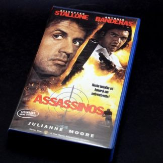 Assassinos , VHS original, Sylvester Stallone, Antonio Banderas, Julianne Moore