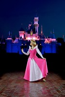 Aurora e o seu castelo (Photo-pass Disney)