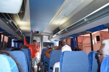 Poesia e Informações durante a viagem