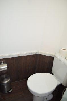 Área do vaso sanitário