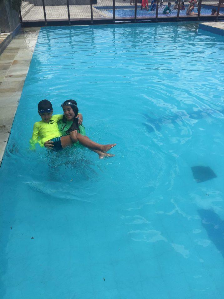 Mergulho para se refrescar