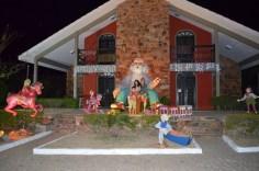 Decoração de Natal à noite