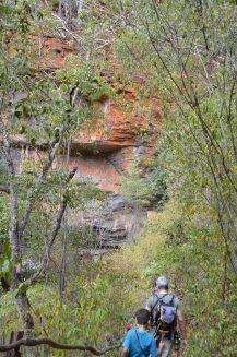 Caminho para a gruta