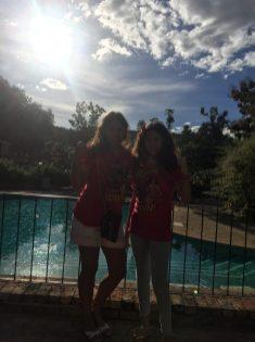 Fim de tarde na piscina do Hotel de Lençóis