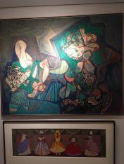 Abstrações, 1991 (Burle Max) e Baianas e Orixás, 1962 (Djanira Motta e Silva)