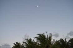 A lua no nascer do dia em Serrambi