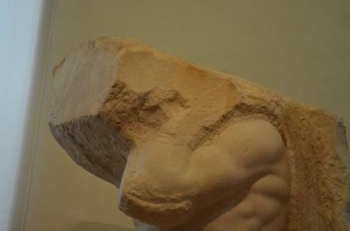 Detalhe sutil do Atlas de Michelangelo