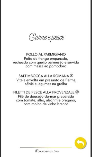 Cardápio Portofino
