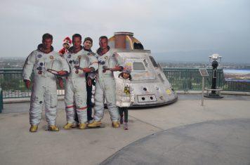 Crianças astronautas do no Universal Hollywood