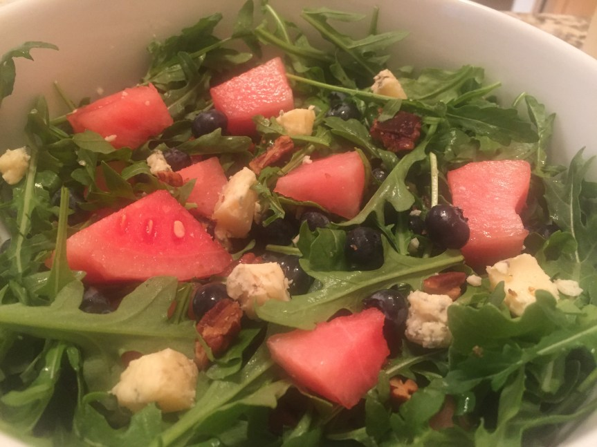 Watermelon Blueberry Salad with Lime Dressing